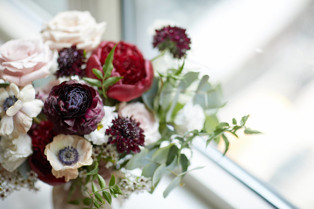 Marsala Bouquet Designs by Ahn