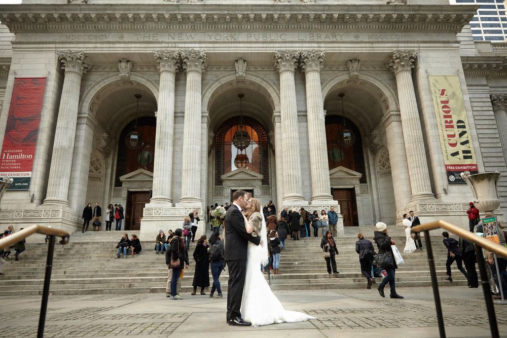 NYPL Wedding First Look
