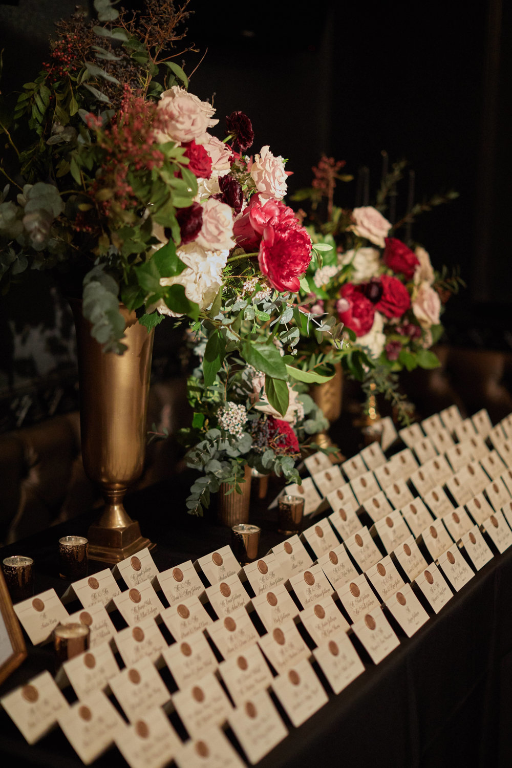 Burgundy Escort Table