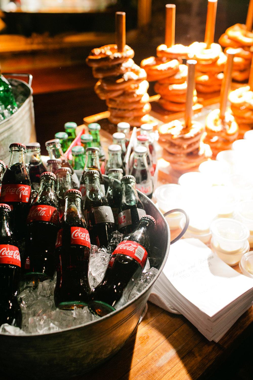pretzels and cola wedding favor