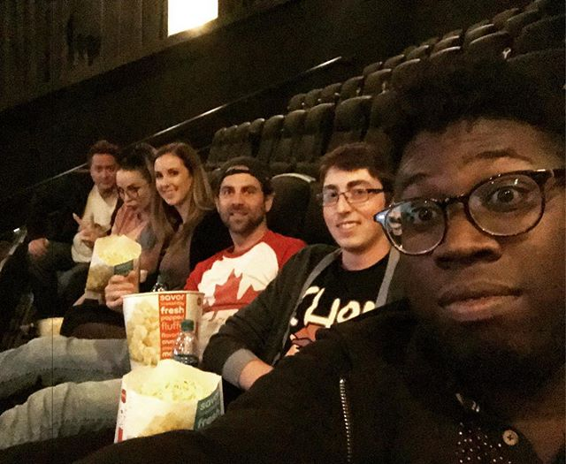When we have a few hours to spare on the road, we like to watch movies together!! [🎞: Battle Of The Sexes] . . . . #Eh440 #Acappella #BandLife #TourLife #Movies #LetsGoToTheMovies  #BattleOfTheSexes #Popcorn #OnTheRoad #FamilyMovieTime #WePartyHard #AMC #ChampaignIllinois