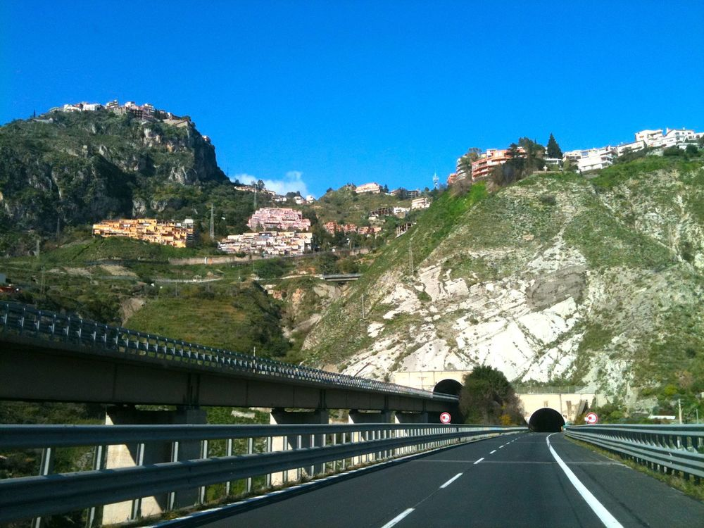 highway in sicily