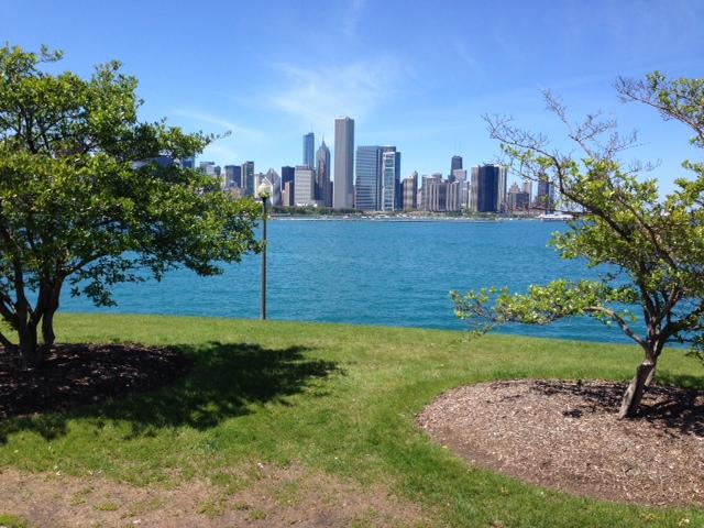 View of Chicago trom the Adler Planetarium