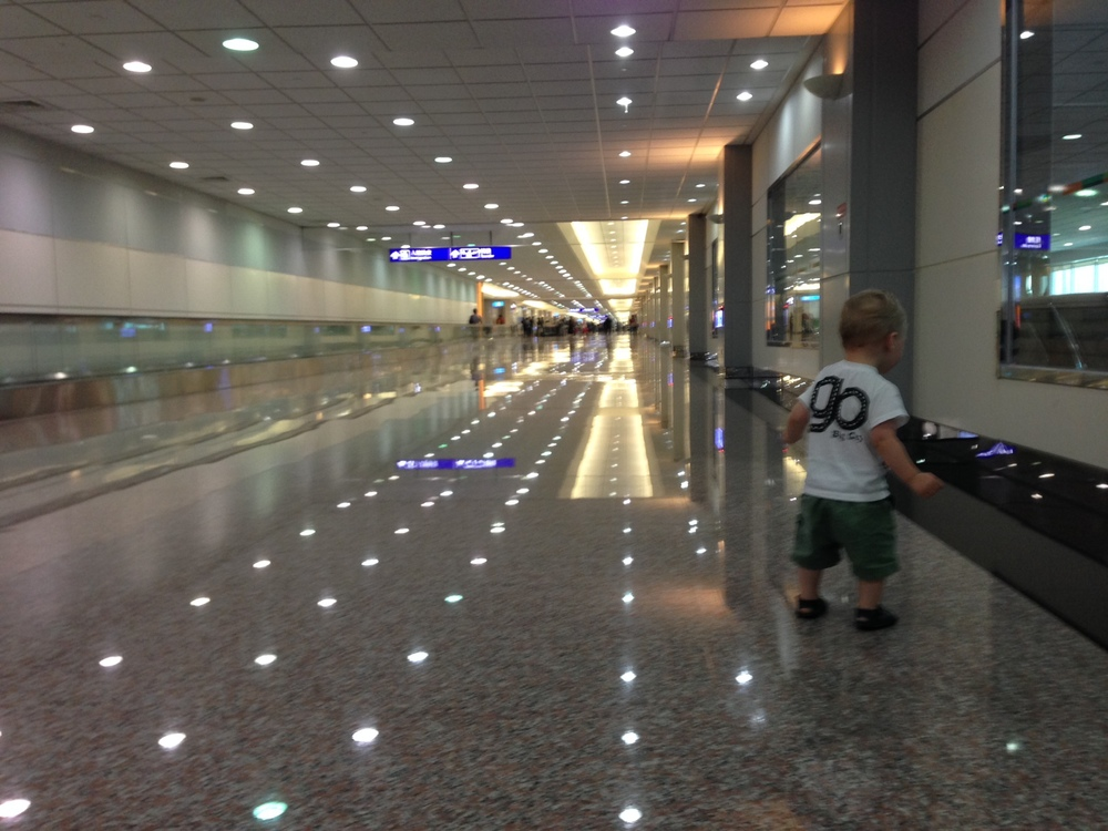 The little guy in the Taipei airport during our layover.