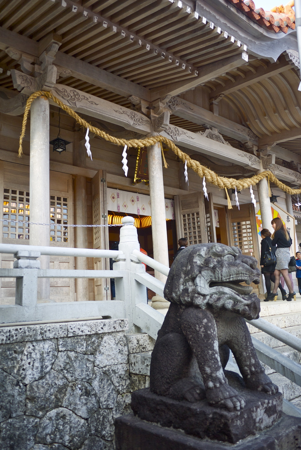 Entry to the Futenma Shrine in Okinawa