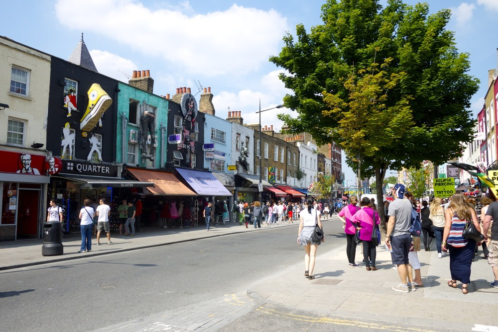 On the street around Camden Market in London