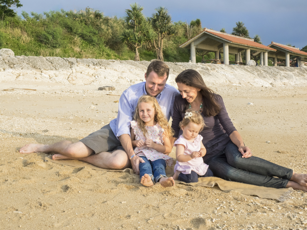 Family on Toguchi Beach