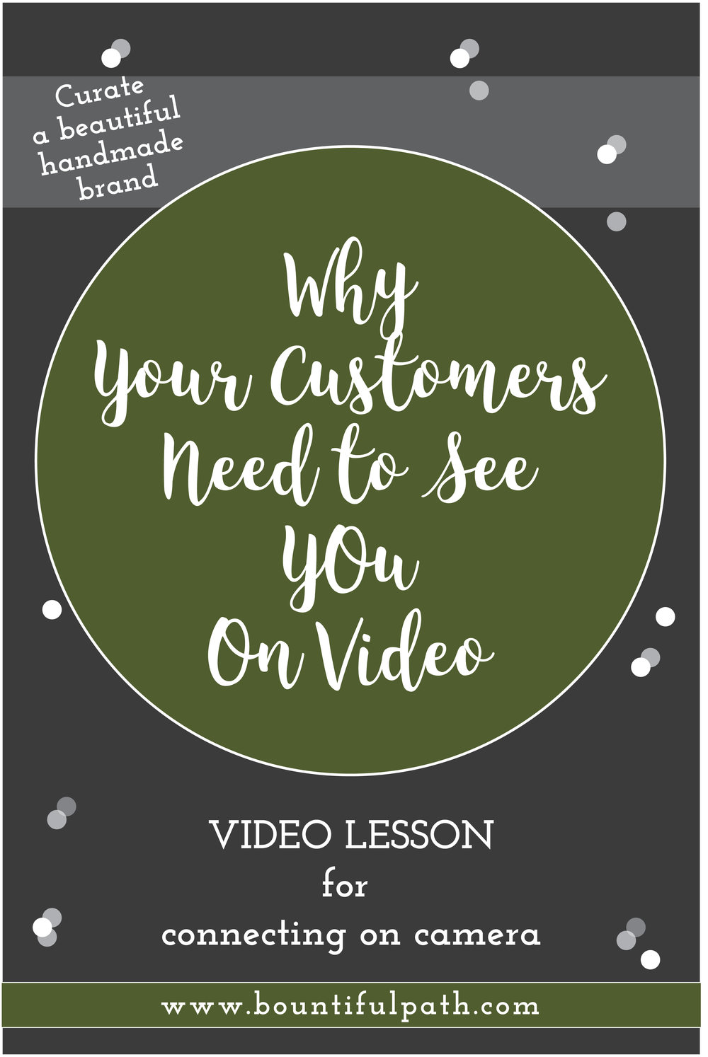 Learn why you need to show your customers what your handmade business is all about by connecting with them on video. Click through to Bountiful Path to see how you can start.