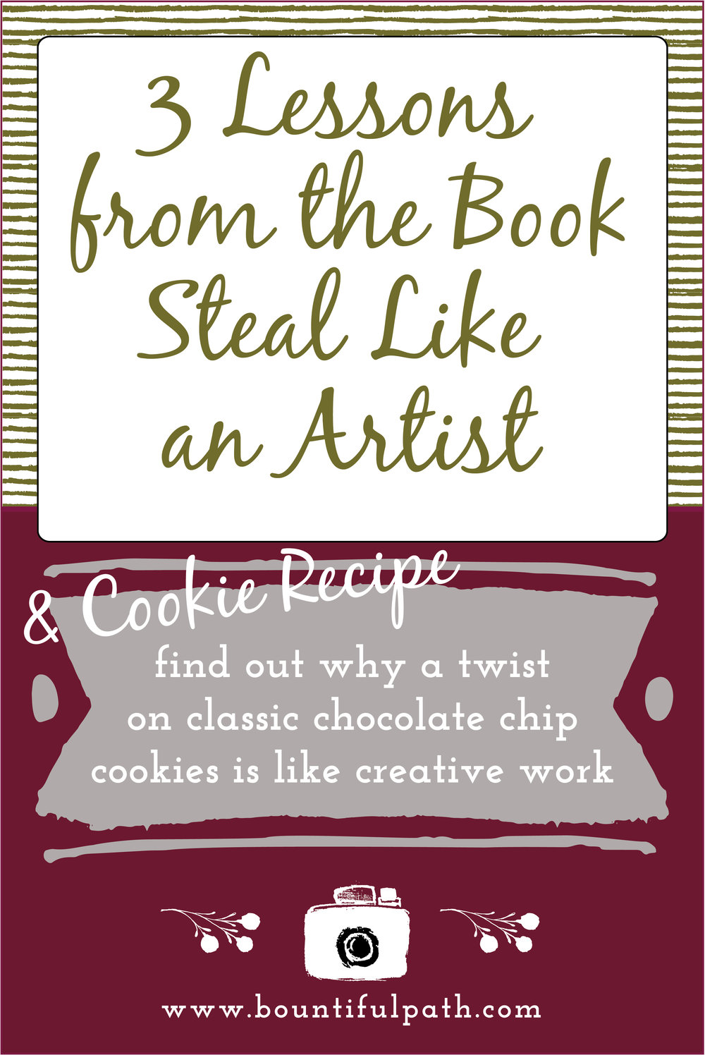Learn how creative work is like making a twist on the classic chocolate chip cookie recipe and why there are no completely new ideas out there | Bountiful Path