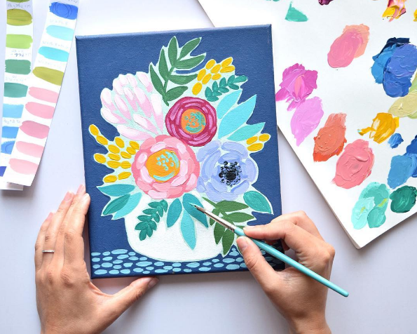 interview with painter Julie Marriott on developing your brand style and visual content strategy for creative businesses | interview by Kristen King of Bountiful Path