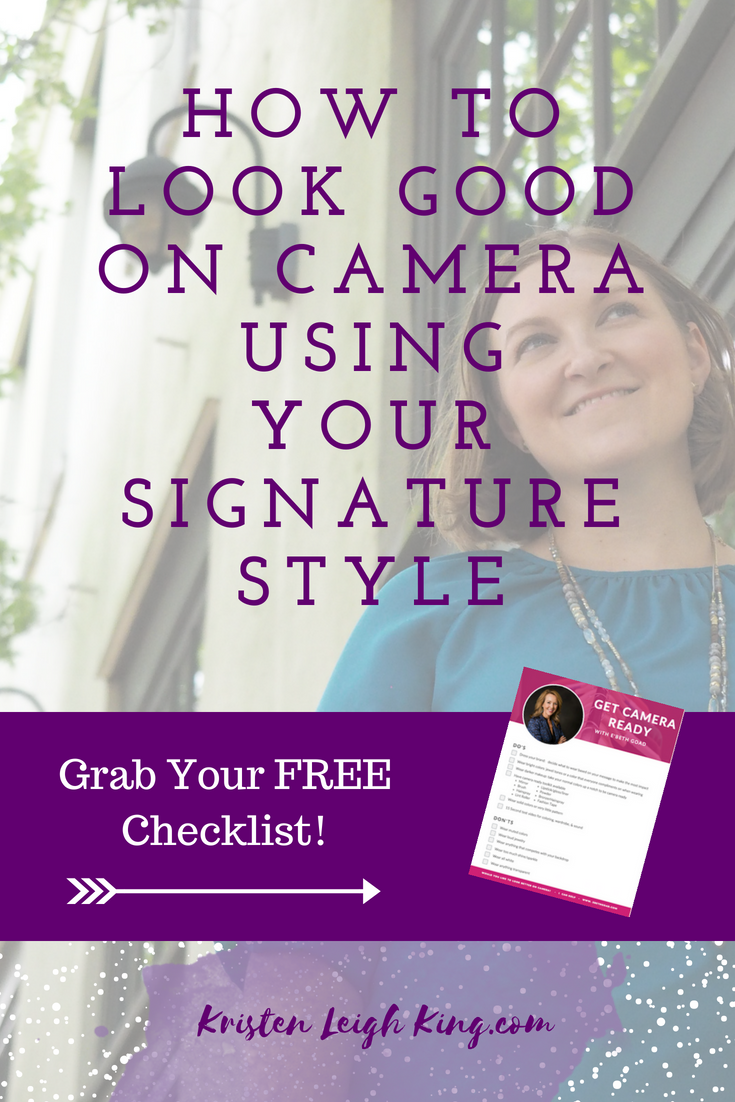how to look good on camera using a signature style_interview with ebeth goad and kristen leigh king_visual content strategy and brand style