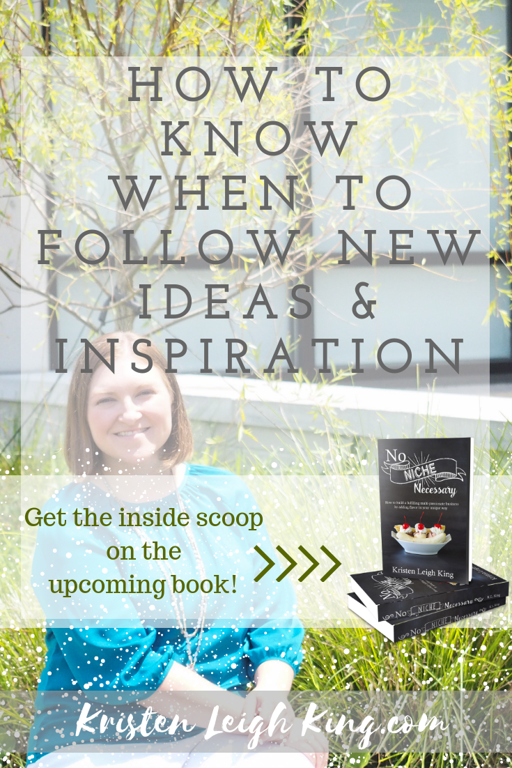 How to know when to follow new ideas and inspiration or when to put them aside on Your Tailor Made Biz podcast