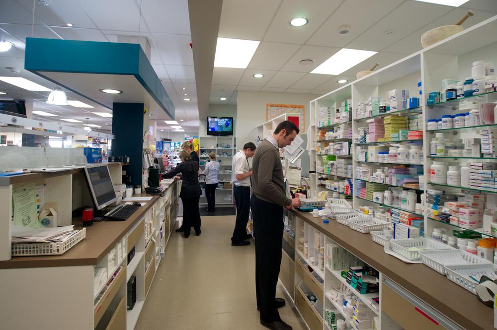 Unichem Olsen's Pharmacy - working area