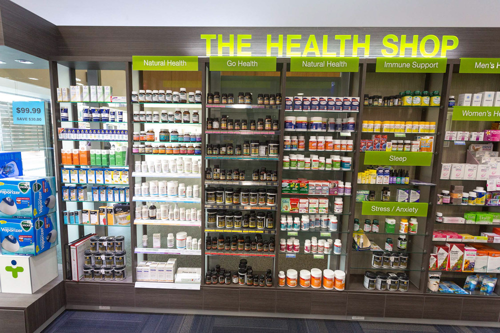 Health New Lynn 7 Day Pharmacy vitamin wall