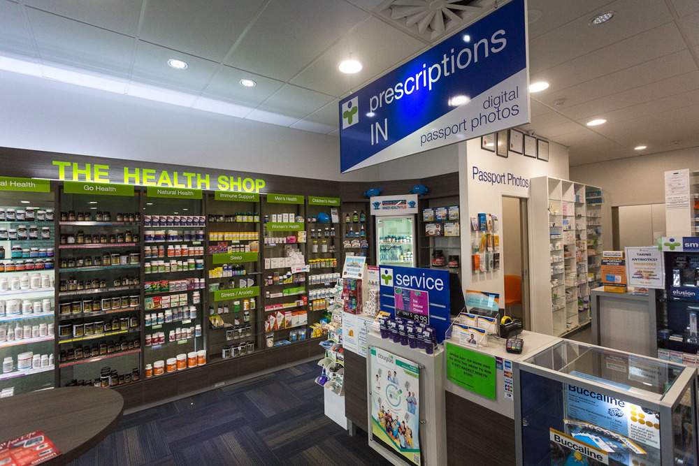 Health New Lynn 7 Day Pharmacy interior - passport section