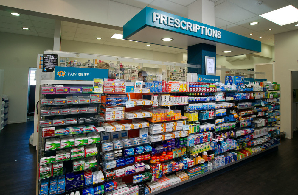 Unichem Olsen's Pharmacy Prescription area