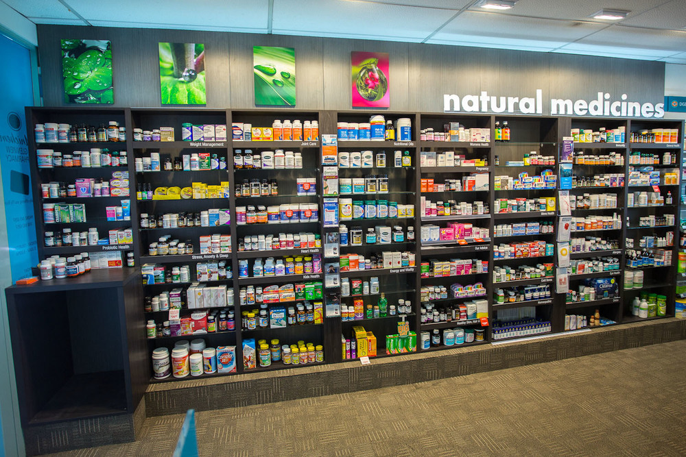 Glenview Pharmacy Vitamin Wall