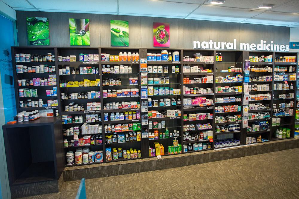Glenview Pharmacy Vitamin Wall