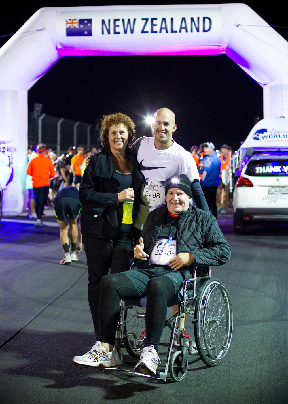 Lloyd participated in the Wings For Life charity run. The goal of the event was to fundraise for spinal cord research. He covered 3.7km on foot before being caught by the chase car. This is the furthest distance he has covered since his disability set in, in his early 20s.