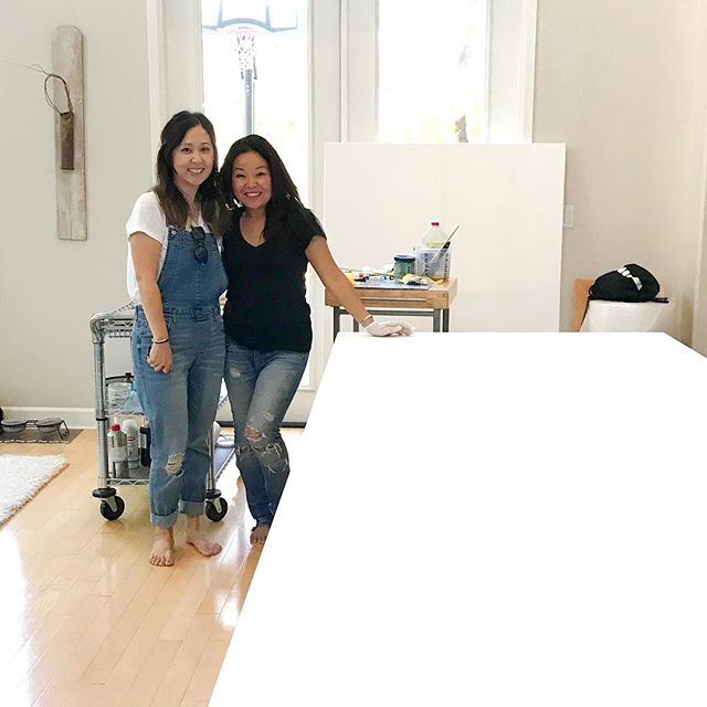 Excited to be collaborating with talented designer @madison.design on oil paintings for her home. ❤ #happythanksgiving #abstract #losangeles #art #contemporaryart #commissions #interiordesign #artcollector #hawaii