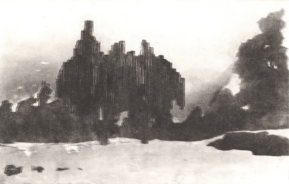 Sibeliusmonumentti / Sibeliusmonument 2018  akvatinta / aquatint