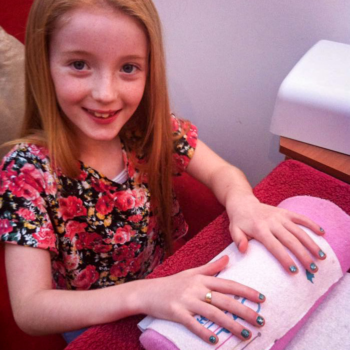Manicure and nail painting