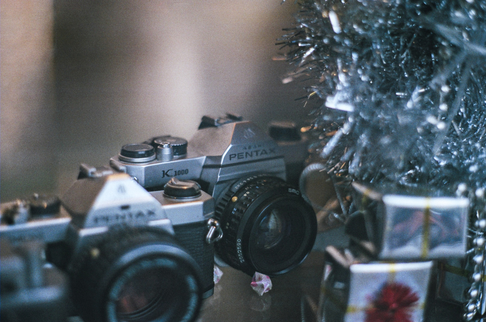 I took this photo using the Pentax K1000 when I spotted another one in the window of a camera store in Bangkok. this one however was not for sale.