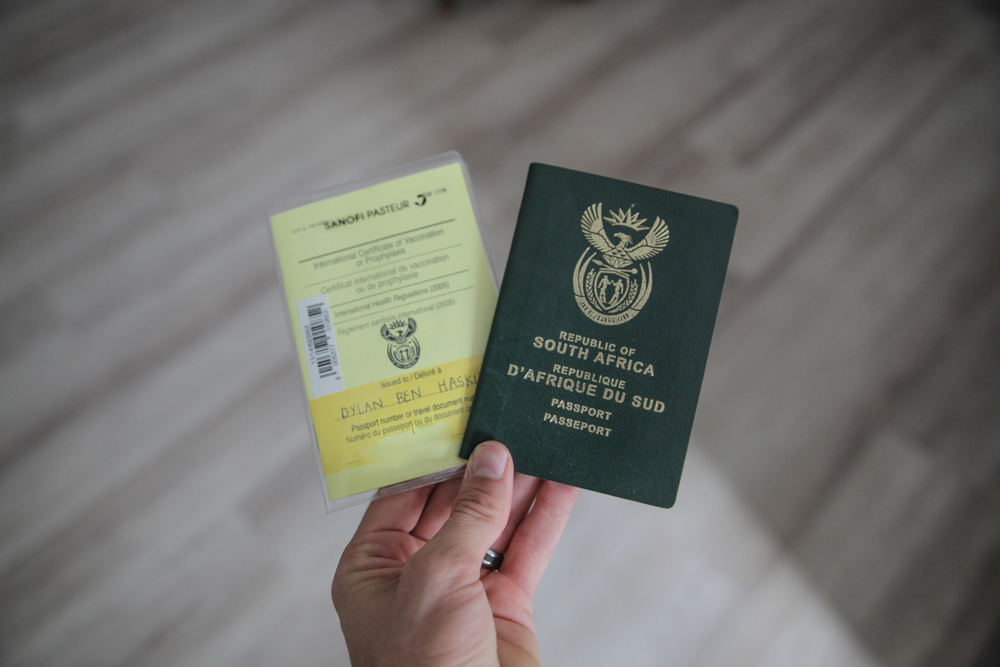 Vaccination Book and SA Passport