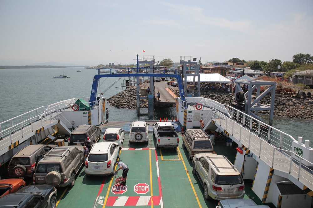 Ferry arriving at Puntarenas