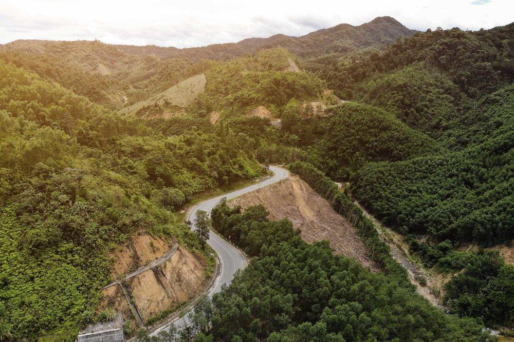 Beautiful backroads in Vietnam