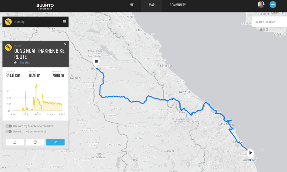Our route so far