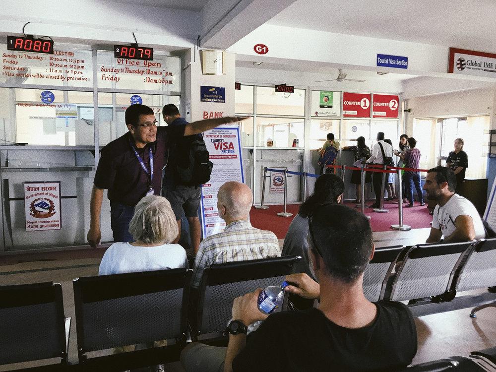 Waiting for passport