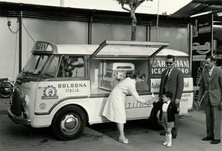 Bildet er fra gelato museum.