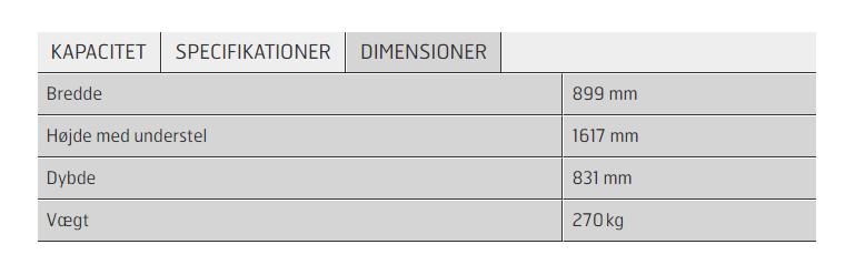 Dimensjoner