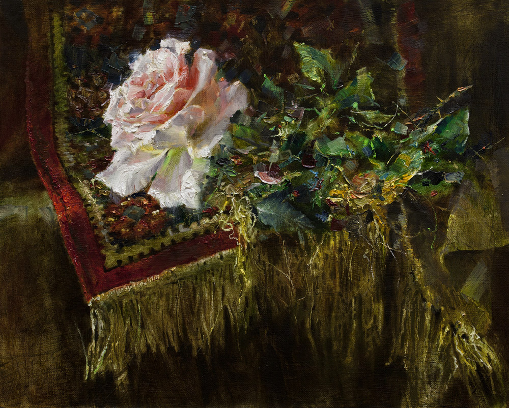 rose and silk rug