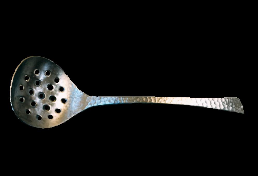 日本製不鏽鋼鎚打漏杓 $500