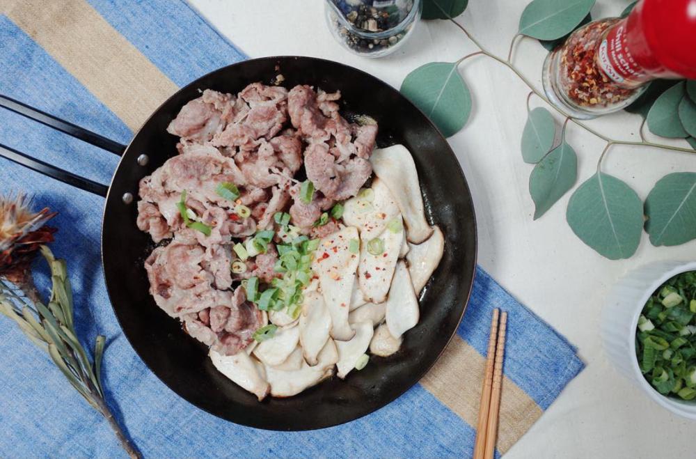 鹽漬檸檬麻油煎豬肉片