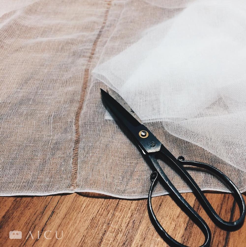 10公尺長綿紗巾 - 隨心所欲的剪裁