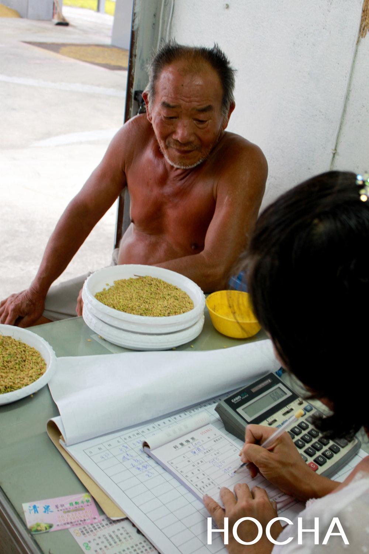 - 農友正專注等著自己的稻米收購價格