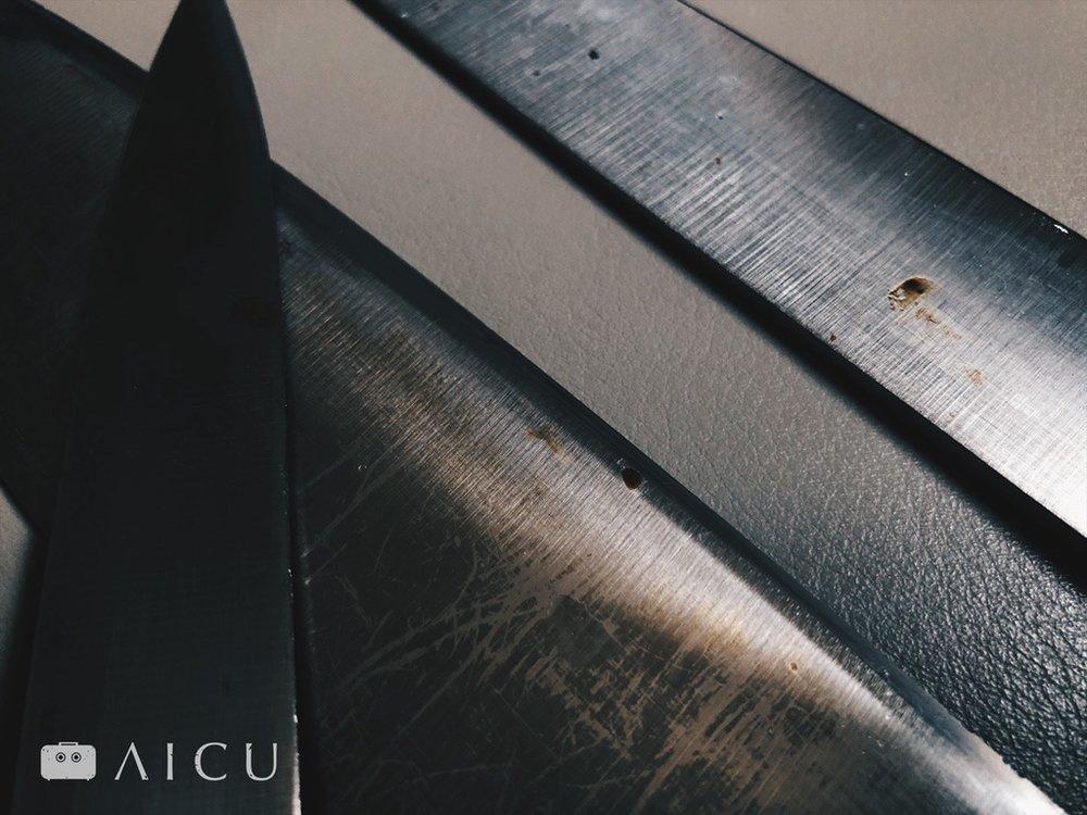 還是會生鏽 - 不鏽鋼菜刀只是較不容易,不代表不會生鏽。