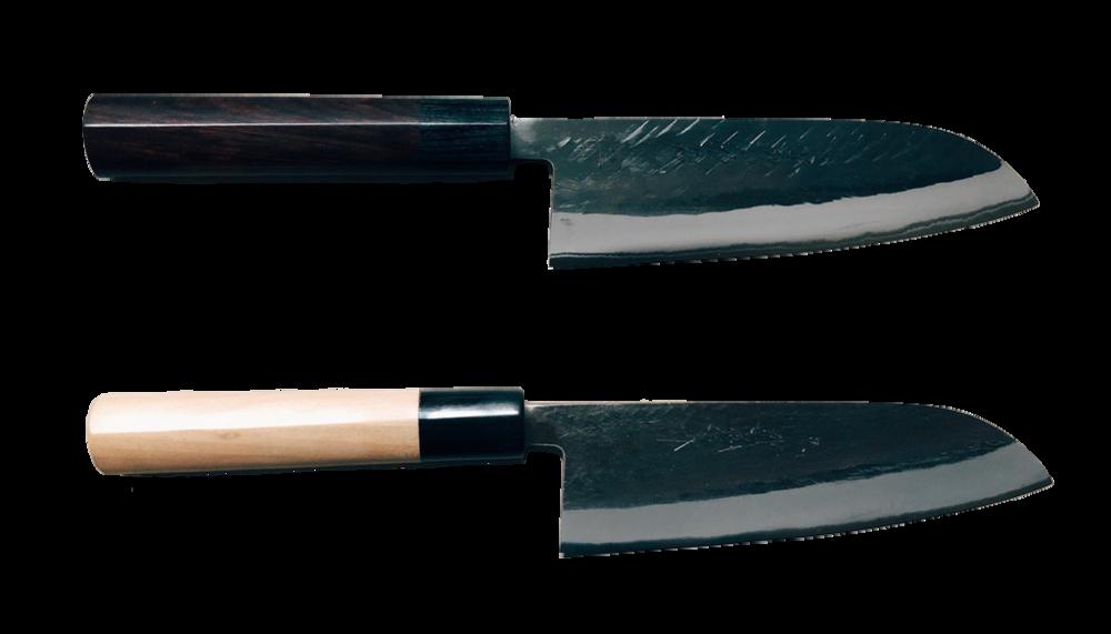 黑打三德菜刀(青二鋼)