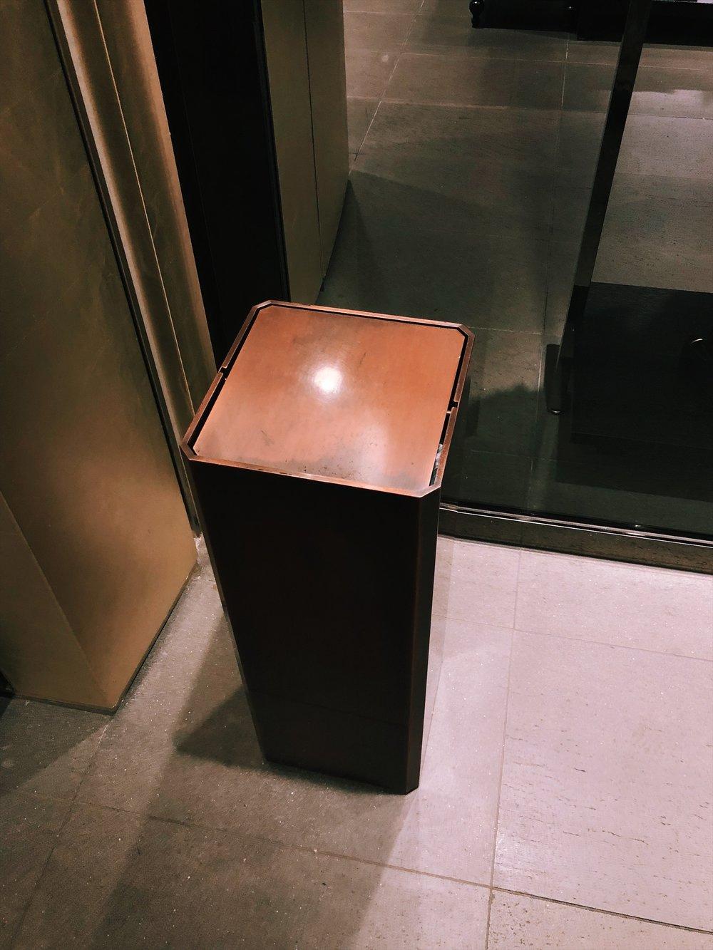 新宿伊勢丹男館 - 垃圾桶也有男子力