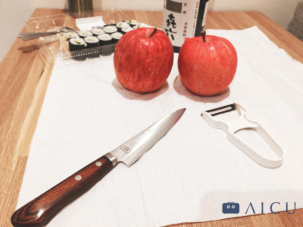 去日本路上總會隨機遇到新鮮又脆硬的蘋果,不買可惜。