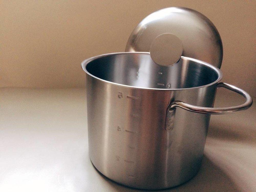 不鏽鋼深湯鍋放著煮不噗鍋