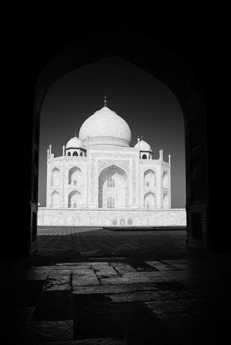 Taj Mahal, India.  Composite of two images, hand-held.