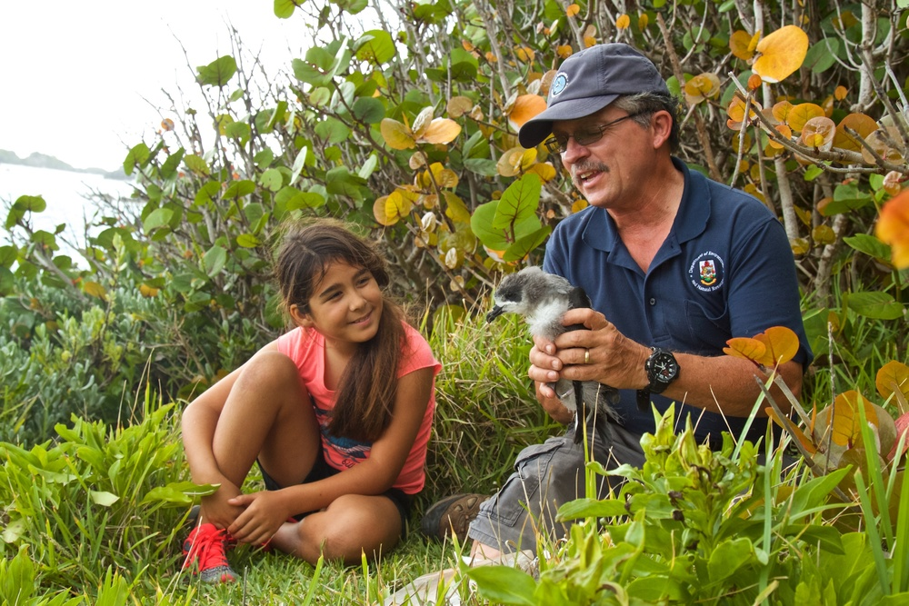 Junior Explorer Sophie names Pepper the Cahow Chick
