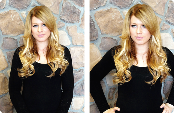 After photos using Dreamcatchers Hair Extensions