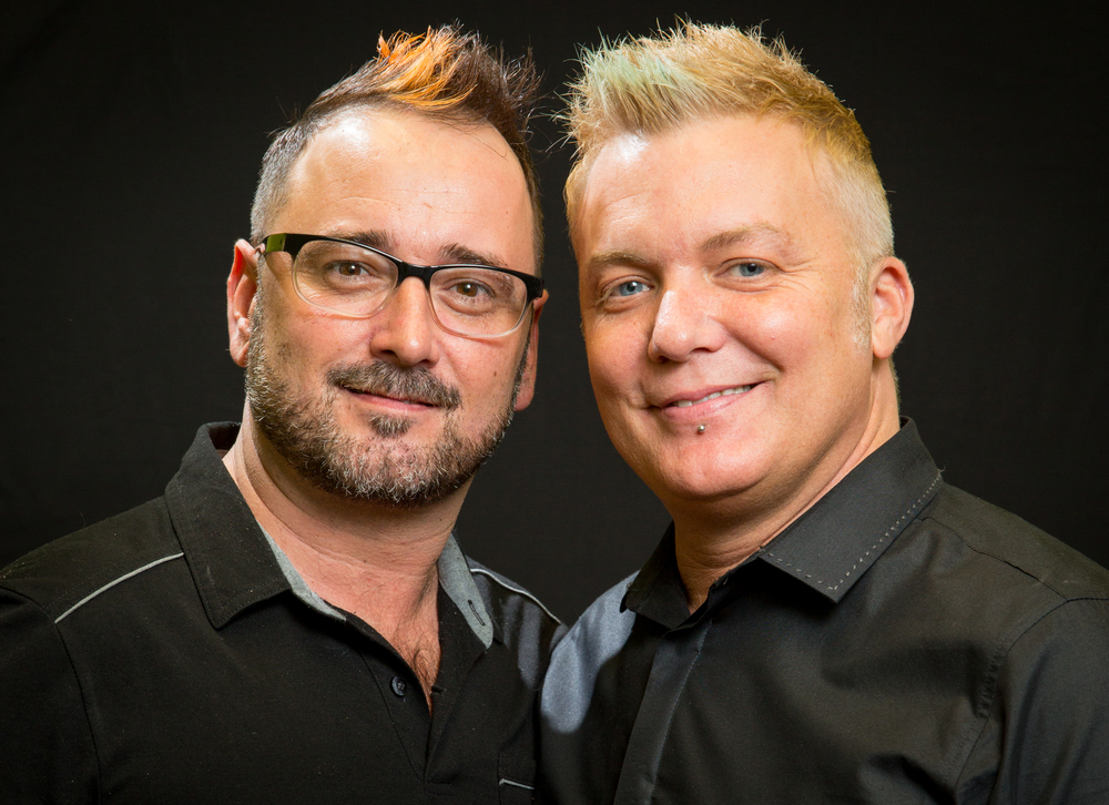 Biff Piner and Thomas Crisp, Owners of Balance Hair Spa in Exton, PA and Balance Hair Spa Studio In West Chester, PA