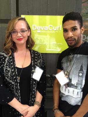 Whitney Mousseau John Barrett Attend Deva Curl Academy In Nyc