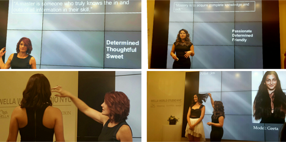 Darlene & Jen doing their final presentation at the Wella World Studio NYC on October 8th 2015